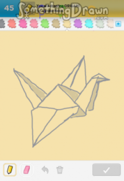 Drawn origami drawing