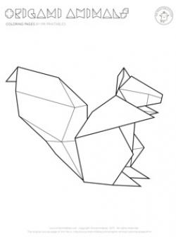 Drawn origami geometric