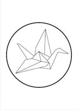 Drawn origami line work