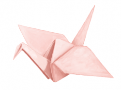 Drawn origami origami bird