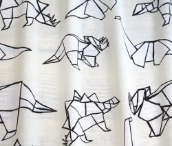 Drawn origami print fabric