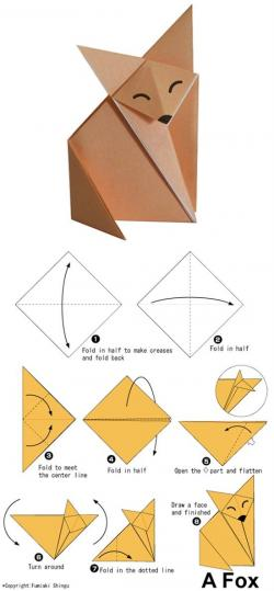 Drawn origami simple