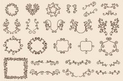 Drawn ornamental
