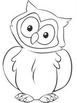 Drawn owl