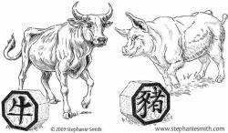 Drawn ox animation