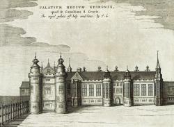 Drawn bulding  palace