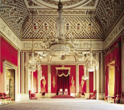 Drawn palace throne room