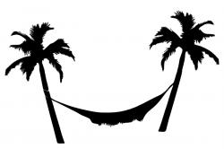 Hammock clipart silhouette