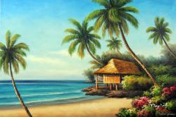 Seascape clipart hawaiian beach