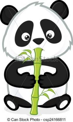 Panda clipart bamboo drawing