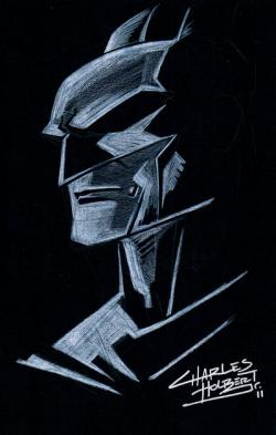 Drawn paper batman