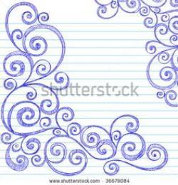 Drawn paper border