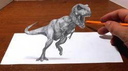 Drawn tyrannosaurus rex awesome