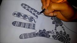 Drawn mehndi easy