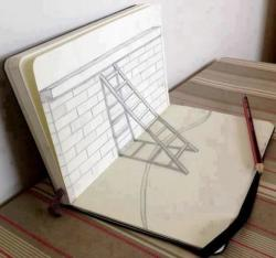 Drawn paper looks 3d