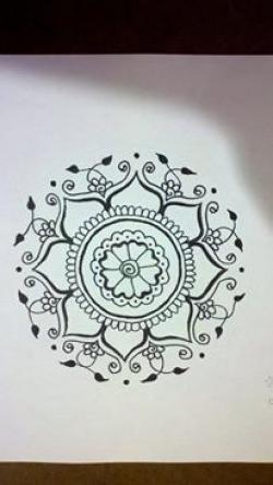 Drawn mehndi paper