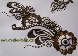 Drawn mehndi creative design
