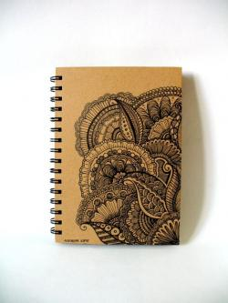 Drawn paper sketchbook