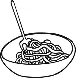 Drawn pasta coloring