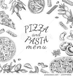 Drawn pasta hand drawn