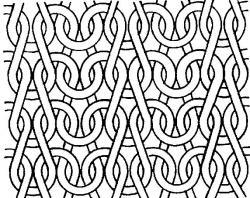Drawn pattern knitting