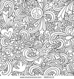 Drawn pattern psychedelic