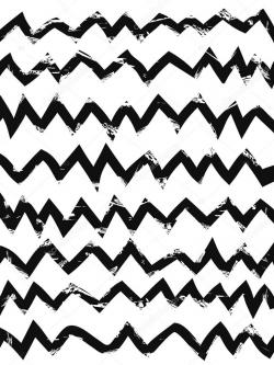 Drawn pattern zig zag
