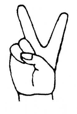 Drawn illuminati peace sign