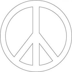Drawn peace sign 60's