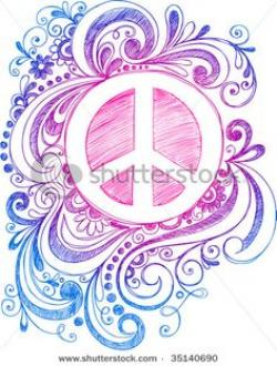 Drawn peace sign awesome