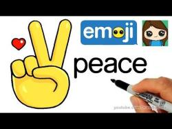 Drawn peace sign cartoon