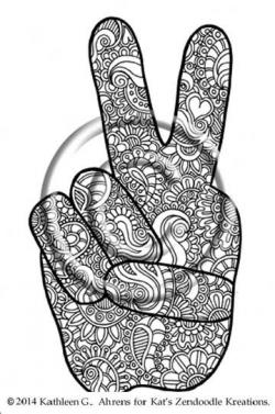Drawn mehndi hand