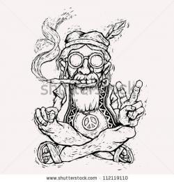 Drawn cannabis funny