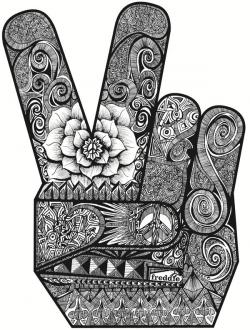 Peace Sign clipart finger tumblr