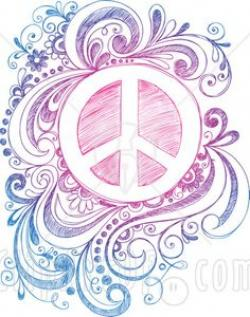 Drawn peace sign cute