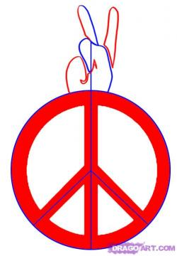Drawn peace sign freedom