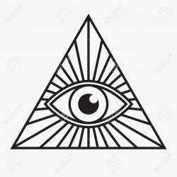 Drawn illuminati logo eye