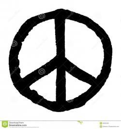 Drawn peace sign roman