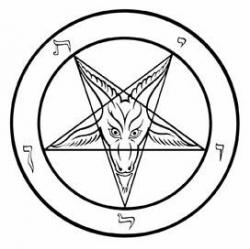 Pentagram clipart inverted