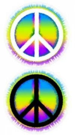 Drawn peace sign small