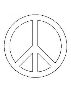 Drawn peace sign stencil