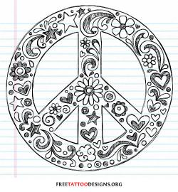 Drawn peace sign symbol