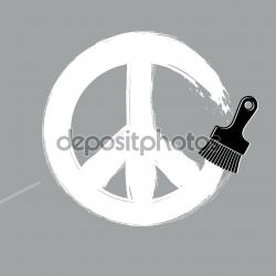 Drawn peace sign vector