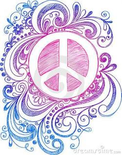 Drawn peace sign vintage