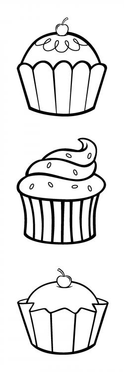 Drawn cupcake towel