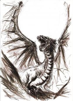 Drawn pen dragon