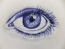 Drawn pen eye