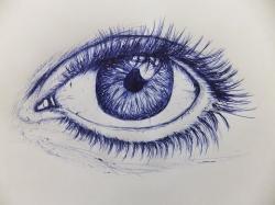 Drawn pen eye
