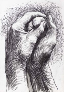Drawn pen hand drawing