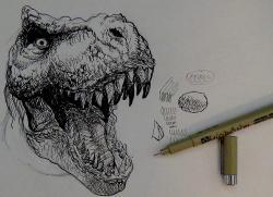 Drawn tyrannosaurus rex realistic